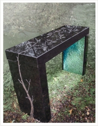 Black Artistic Granite Table